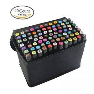 Yalulu 40-couleurs Marqueur Peints à la Main Huile-alcool Double 1mm/6mm 40 Couleurs Animation design dans un sac de la marque Yalulu image 0 produit