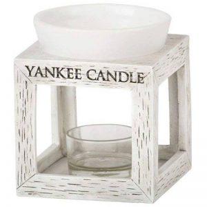 Yankee Candle 1331880 Bruleur Tartelette Bois/Céramique/Combinaison Blanc 9,3 x 9,8 x 11,6 cm de la marque Yankee Candle image 0 produit