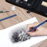 YOHOOLYO 41PCS Crayons de Dessin Crayons Croquis Kit de Croquis Dessin avec Sac Inclus Gomme Crayon de Charbon Graphite Outils pour Dessiner de la marque YOHOOLYO image 2 produit