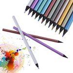 yosoo 12-Color Crayons de couleur métallique Fine Art professionnel dessin crayons de peinture pour artiste esquisse livre secret garden Coloration de la marque Yosoo image 2 produit