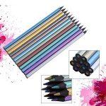 yosoo 12-Color Crayons de couleur métallique Fine Art professionnel dessin crayons de peinture pour artiste esquisse livre secret garden Coloration de la marque Yosoo image 1 produit