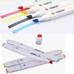 YOU'S marker set, double pointe stylo marqueur pour les étudiants manga artiste avec rangement sac-animation Design dédié marqueur. (80Colors (Blanc)) de la marque MAICI image 3 produit