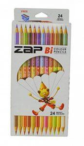 Zap bicolore Crayons, 24couleurs claires Lot de 12(assortis) de la marque Zap Impex image 0 produit