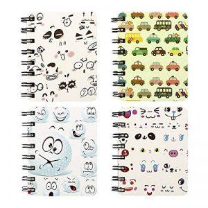Zhi Jin Lot de 3Portable Animal à spirales Couverture Kraft bloc-notes Journal Memo Agenda scolaire bureau Cadeau 4Pack of Set de la marque Zhi Jin image 0 produit