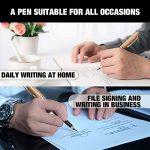 Zogeen Stylo-plume Fabriqué à la Main|Kit Vintage en Bambou pour Dessiner et Ecrire|Meilleur stylo à offrir avec boîte naturelle, cartouche d'encre et convertisseur de recharges d'encre|Vous obtenez des stylos de calligraphie de luxe avec plume dorée de l image 2 produit
