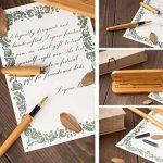 Zogeen Stylo-plume Fabriqué à la Main|Kit Vintage en Bambou pour Dessiner et Ecrire|Meilleur stylo à offrir avec boîte naturelle, cartouche d'encre et convertisseur de recharges d'encre|Vous obtenez des stylos de calligraphie de luxe avec plume dorée de l image 1 produit