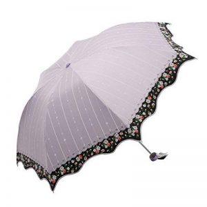 ZQ@QXMme en caoutchouc noir Parapluie pliant Parasol , Violet Encre de la marque QIANparapluie image 0 produit