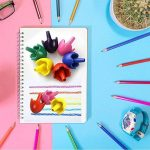 ZZM Crayons de peinture pour enfants Forme d'œuf en cire, les tout-petits au crayon Crayons Palm-grip Peinture Crayons, empilable Toys Crayons de peinture lavable pour enfant 6color de la marque ZZM image 1 produit