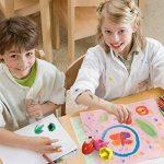 ZZM Crayons de peinture pour enfants Forme d'œuf en cire, les tout-petits au crayon Crayons Palm-grip Peinture Crayons, empilable Toys Crayons de peinture lavable pour enfant 6color de la marque ZZM image 2 produit